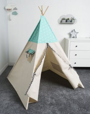 Tipi, namiot, Cozy Dots Mint