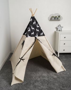 Namiot, tipi, Cozy Dots My Deer Black