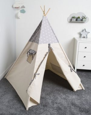 Namiot, tipi, Cozy Dots Grey Star