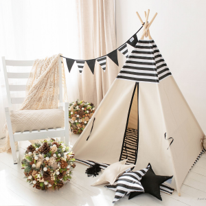 Namiot tipi, Cozy Dots, Black & White